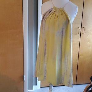 Tangerine silk dress